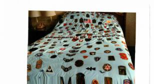 Military patchwork quilt by Frederick Black Jr.