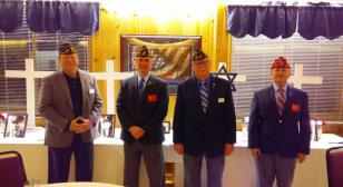Four past department commanders participate in Four Chaplains program