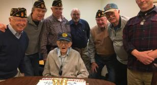World War II veteran celebrates 96th birthday