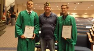 Texas post recognizes two young men with certificates