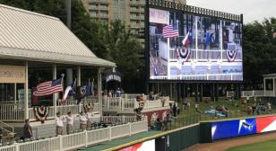 American Legion Post 178 presents nation's colors on Armed Forces Day at Frisco Roughriders game