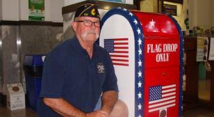 American Legion provides drop box for flags