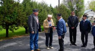 Legionnaires honor 90-year-old WWII veteran