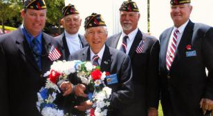 Wreath-Laying at Tidewater Veterans Memorial in Virginia Beach, Va.