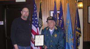 Gus Farr receives 60-year membership award