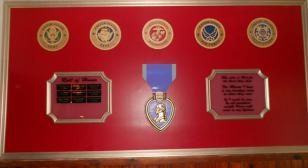 American Legion Post 101 dedicates Purple Heart Wall