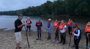 Post 247 crosses the Potomac River