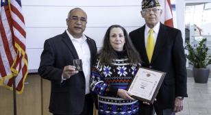 Harley-Davidson Post 400 presents heroism medal