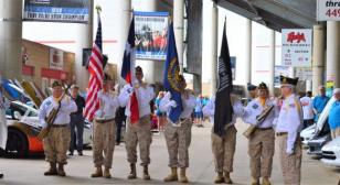 Post 178 color guard presents nation's colors at Lone Star Corvette Classic