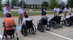 Armed Forces Day celebration at Frisco Prairie Estates Nursing Home
