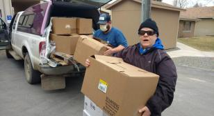 Post 42 Townsend Legion Family delivers Harbor Freight-donated medical supplies to local hospital