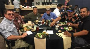 Steak dinner for shelter veterans