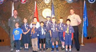 Cub Scout Pack 655 had a military themed meeting at Post 291