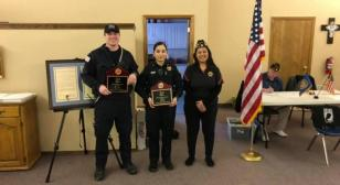 Post supports local first responders with awards
