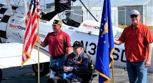 World War II Air Force veteran returns to the sky