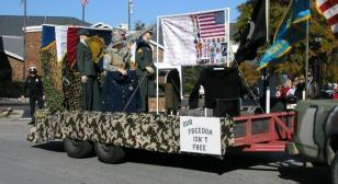 Morgan County, Alabama Post 15 builds floats for Veterans Day