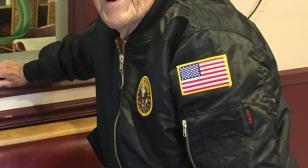 A hero's jacket begins its journey