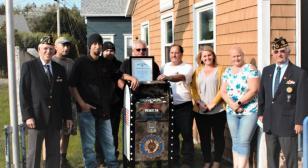 "St. George, Maine Post 34 gets  ""restored"" flag drop box"