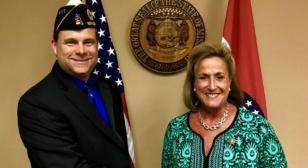 Congresswoman congratulates first Gulf War-era district commander in Missouri's 10th District