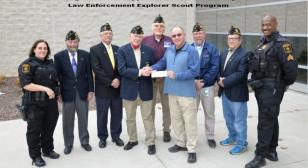 Local Law Enforcement Explorer Scout Troop Receives Donation