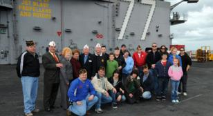 American Legion Department of Virginia Commander Visits Newest Aircraft Carrier