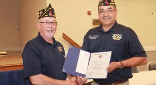 Membership First Place (Category VI) awarded to First Vice Commander Dennis Madtes
