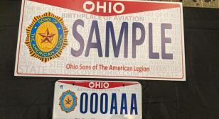 Detachment of Ohio Gets License Plate