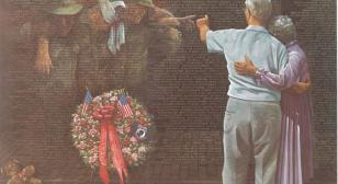 Wounded Vietnam veteran steps into painting that hung over his bed