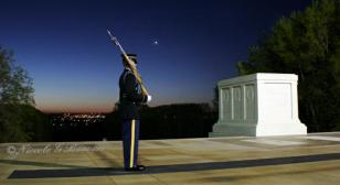 An interview with a guard at the Tomb of the Unknowns