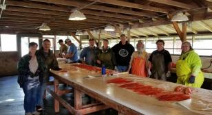 Seward Post 5 American Legion Family Prepares Fresh Alaskan Salmon for Those in Need