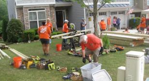 Volunteers band together to build ramp for WWII veteran