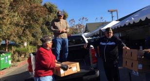 Clifford R. Rodriguez Post 809 delivers truckload of Thanksgiving turkeys