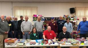 "Grand Haven (Mich) Post 28 Goodfellows and Local Firefighters Celebrate 59th Annual ""Crusade For Toys"" Campaign"