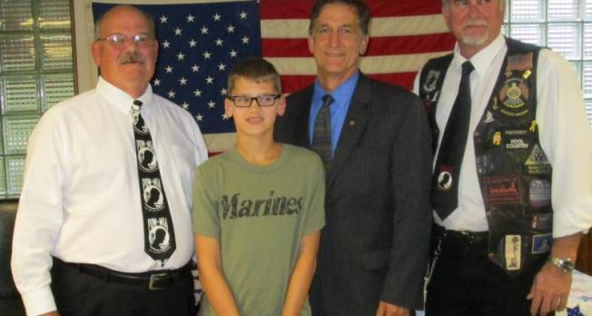 Pennsylvania boy helps veterans with combat injuries, earns congressional citation