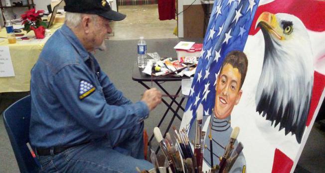 In Texas, one veteran dedicates life to painting fallen heroes