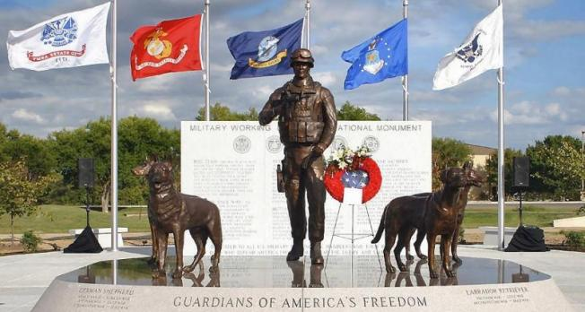 Veteran envisions, creates national monument honoring military working dogs