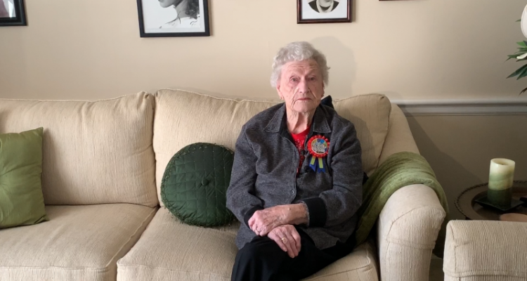 100th Birthday and First Female Member of American Legion in Raleigh, N.C. - Anne Capucille