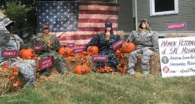 Women Veterans Showcase Military Scarecrows at Arts and Crafts Festival